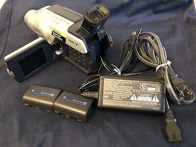 "SONY HANDY CAM Hi 8 CCD-TRV118 VIDEO CAMERA RECORDER W/2 BATTERY &CORDS ""WORKS"""