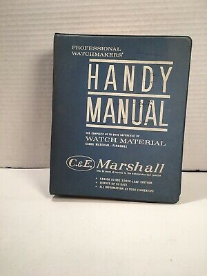 C. & E. Marshall's Professional Watchmakers' Handy Manual of Watch Parts