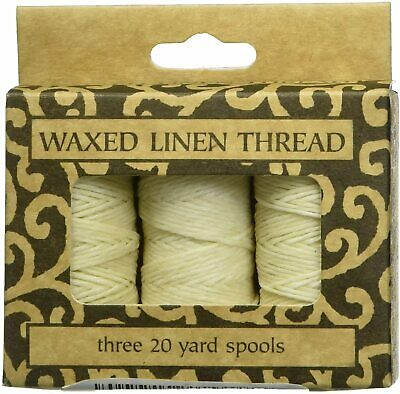 Lineco Waxed Linen Thread 3 Pack 5 Ply Natural Cream Colour Books By Hand