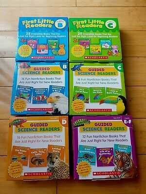 **110 books** Guided Science and First Little Readers Levels B-F Lot of 6 sets