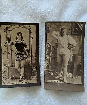 Lot Of 2 Antique Actress Tobacco Cards Clean Images Nisean, Veronia