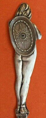 Stunning Full Figural Indian Chief Nude Sterling Silver Souvenir Spoon