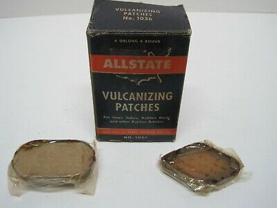 Vintage ALLSTATE Vulcanizing Patches 10 pack w/ Two Extra