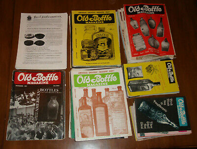 18 pounds of OLD BOTTLE MAGAZINES 1969-1984 plus Fruit Jar Newsletter 75 issues