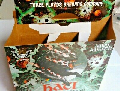 3 Floyds Berserker's Hati 6-Pack Beer Bottle Carrier Mint Condition