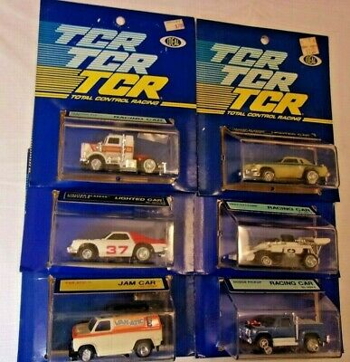 New On Card! 6 Ideal Tcr Ho Scale Slotless Racing Cars