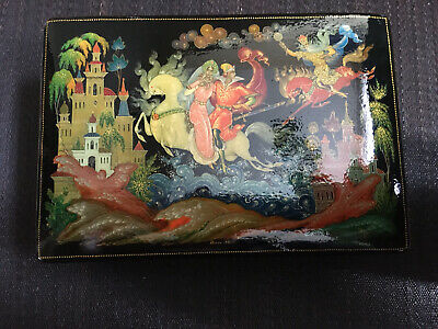 Russische Lackdose, Palech, Palekh, USSR, 1983, Russian lacquer box