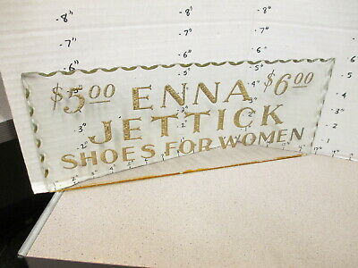 ENNA JETTICK vintage women's shoes 1930s cut glass store display lighted? sign