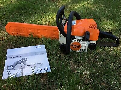 "Stihl MS170 Petrol Chainsaw 14"" Bar With Original Operating Instructions."