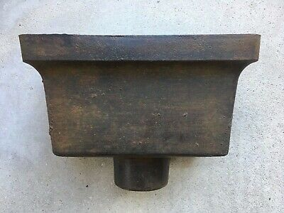 Vintage Small Cast Iron Rectangular Rain Water Hopper