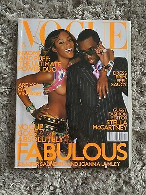 Vintage Vogue Magazine October 2001 Naomi Campbell Puff Daddy P Diddy Kate Moss