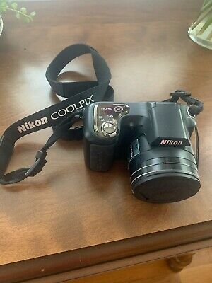 Nikon L100 10.0MP Digital Camera black. Optical zoom lens 15x