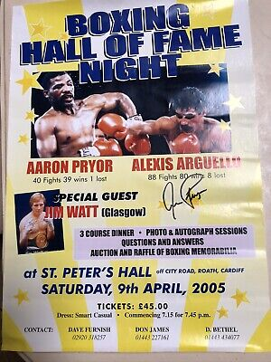Poster Signed By Boxer Aaron Pryor