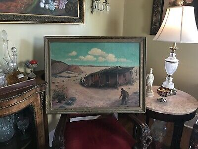 Antique Native American Painting