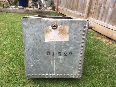 Vintage Riveted Galvanised Water Tank/Garden/Planter VGC with original markings
