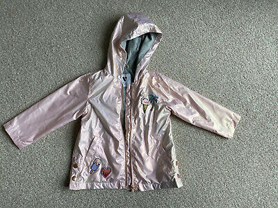 Girls Light Weight Floral Hooded Jacket Age 2-3 Years