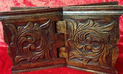 Old Antique carved Folding Stand / Rest for Bible, Quran Koran Holy Book