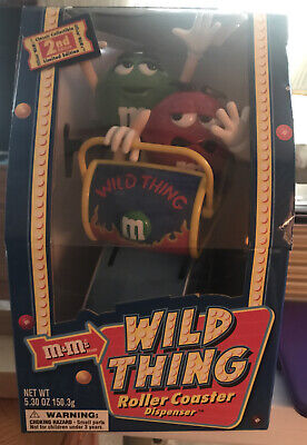 M&MS WILD THING ROLLERCOASTER CANDY DISPENSER LIMITED EDITION  Original Box