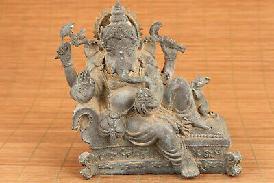 Rare Old chinese bronze casting elephant Buddha collectable statue