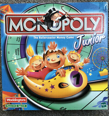 Junior Monopoly Waddingtons - The Rollercoaster Money Game 2001 Version