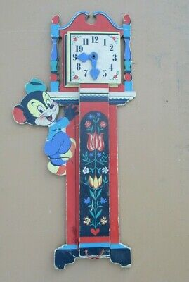 Vintage 1949 The Dolly Toy Co. Height Calculator Hickory Dickory Dock