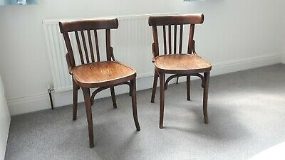Pair of Antique Thonet Thonet style bentwood bistro chair x 2 two vintage