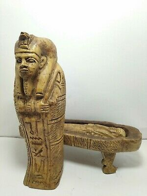 RARE ANTIQUE ANCIENT EGYPTIAN Sarcophagus Ushabti Servent Minion Dead 1815-1750