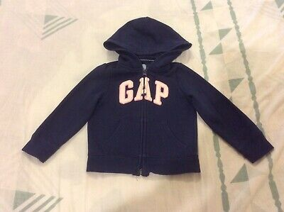 Gap kids girls 3 years navy blue gap logo front zip hoodie Good Ready 2 Wear Con