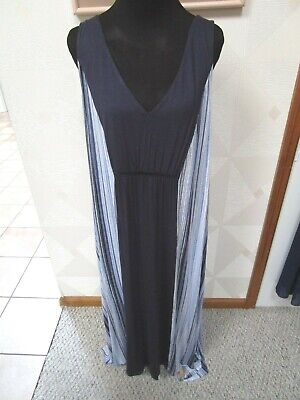 Simply Vera-Navy/Blue/White-Stripe-Sleeveless-Long Nightgown-Size-1X-Nwt-$52.00
