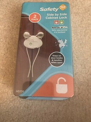 Safety First Side by Side Cabinet Baby Proof Lock 2 Locks Per Pack HS158