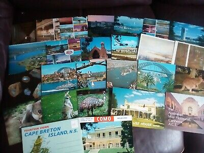 A Job Lot of 22 Australia Postcards and 4 Lettercards