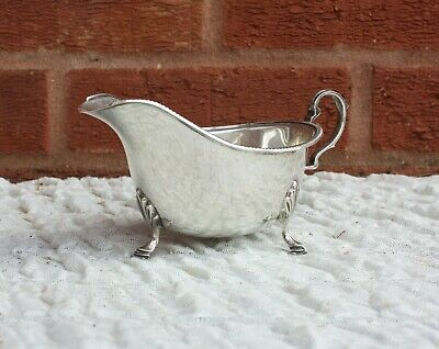 Art Deco Solid Silver Gravy Boat Sheffield 1935