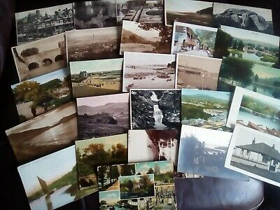 A Job Lot of 26 Vintage Postcards - All with Faults