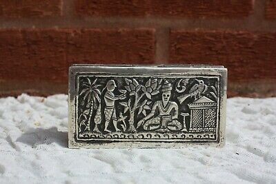 19th Century Indian Solid Silver Box