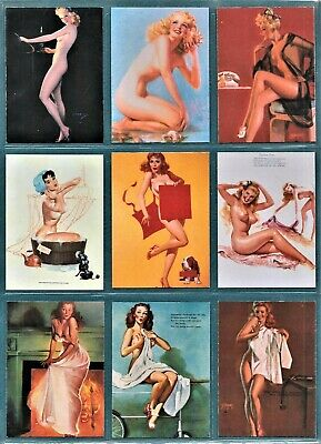 PINUPS UNCOVERED 50 Vintage Paintings 1995 Trading Cards Elvgren Mac Pherson B