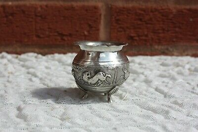 19th Century Indian Solid Silver Pot