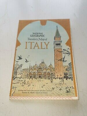 National Geographic Travelers Map Of Italy - June 1970 Supplement - Mint
