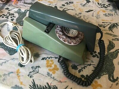 GPO Trimphone Trim Phone Rotary Dial Telephone Green Fully Working & Converted