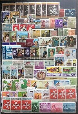 Dealers Old Stamp Lot 80+ Commonwealth & World Mint All Different(Lot WR/01)