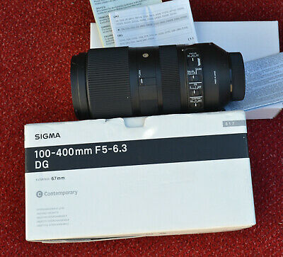 Sigma 100 - 400 mm f5 - 6.3 DG - DSLR Camera LENS  NIKON  FIT - boxed