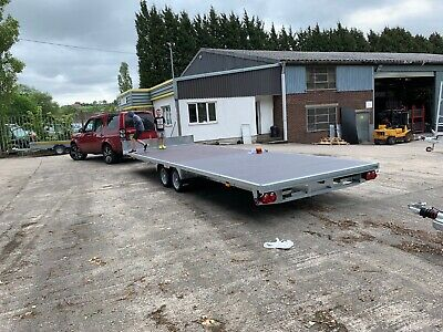 2019 Bateson Flatbed Trailer With Ramps Very Large 23Ft By 8Ft Bed 3.5 Ton