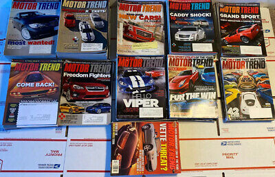 Lot Of (100) Motor Trend Magazines 1997-2015 Shipped In 4 Medium Flat Rate Boxes