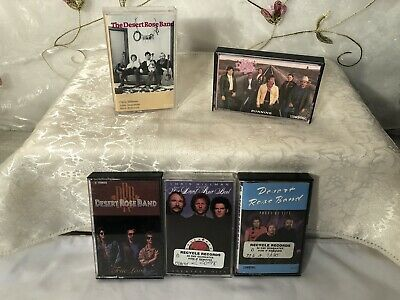 THE DESERT ROSE BAND Vintage Lot Of 5 Cassette Tapes! LOOK! #252