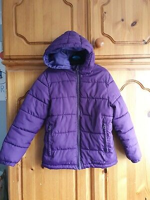 Girls Age / Size 5-6 Years Peter Storm Purple Hooded Padded Coat