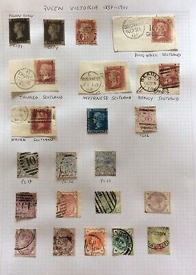 EX Dealers GB Old Stamps 20 Queen Victoria + Two Copies On A Album Page (GBV/01)