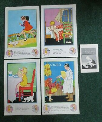 Vtg RARE 1930 1940 National Dairy Council Patsy's Day Nursery Rhyme Book Posters