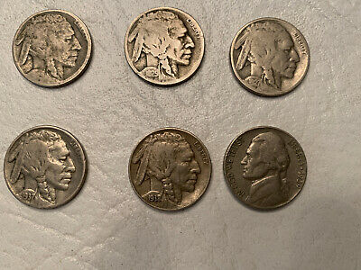 Six Nickels From 1939 and Older