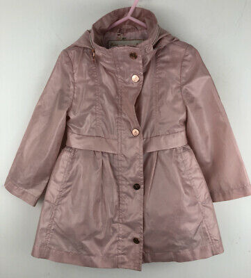 Ted Baker Girls Jacket Hooded Mac Pink Lightweight Age 2/3 Years