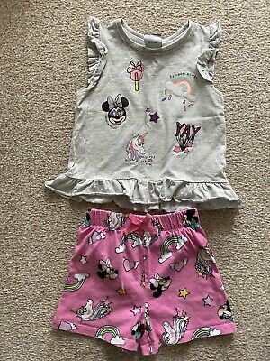 Girls Age 2-3 Minnie Mouse Shorts And Top