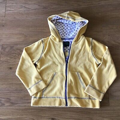 Mini Boden Girls Yellow Towelling Zip-Up Hoody Top - Age 7-8 Years